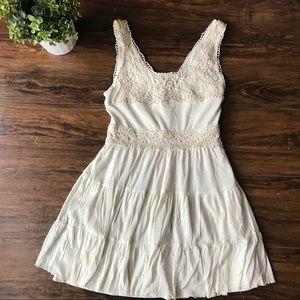 Cream colored lace and chiffon gypsy dress